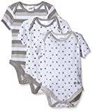 Twins Body Unisex 0-24, pacco da 3 Multicolore (Grigio/Bianco) 1 mese