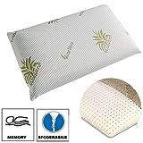 Cuscino in memory antisoffoco per bambino, guanciale per culla e lettino con fodera aloe sfoderabile, 50 x 30 x 5,5 cm