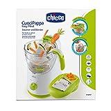 Chicco Cuocipappa Easy Meal, Cottura a Vapore e Omogenizzatore, Bianco e Grigio