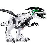 KiGoing Dinosauro Giocattolo Robot Elettronico, Dinosauri Ambulanti, Giocattoli con Audio, Illuminazione, Spitfire, Shake Tail e Ali