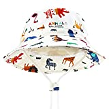 DRESHOW Unisex Bambino Secchio Regolabile Protezione Del Sole Cappello per Neonata Ragazza Ragazzo Neonato Bambini Bambino Pieghevole Cappelli da Sole da Spiaggia UPF 50+