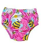 Costume Ellepi Contenitivo Neonato Pannolino Costumino Mare Piscina Slip Bambino Bambina Nuoto 0 1 3 6 9 12 18 24 Mesi (Fucsia, 9-18 mesi)