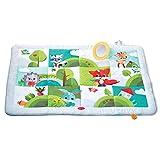 Tiny Love Super Mat Meadows Days Tappeto gattonamento, Tappeto Gioco per Bambini e Neonati, pieghevole ed imbottito, grande 150 x 100 cm, multifunzione, bianco