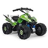 INJUSA - Quad Kawasaki ATV 12V con Licenza Kawasaki, con Retromarcia e Freno Elettrico Consigliato per Bambini +2 Anni