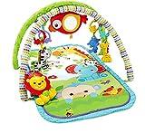 Fisher-Price Palestrina della Foresta con 3 Livelli di Gioco, 5 + 1 giocattoli, Musica e Suoni, Morbido Tappetino Facilmente Lavabile, per Neonati da 0+ Mesi, CHP85, Imballaggio Standard