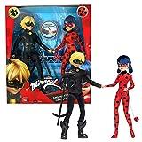 Bandai- Miraculous Confezione con 2 Bambole da 26 cm. Ladybug e Black Cat-P50365, P50365