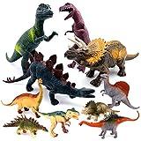 SYOSIN Figura diDinosauri JurassicWorld DinosauroGiocattolo,Set di 10 Plastica Educativo Dinosaur Figure Toy per Bambini