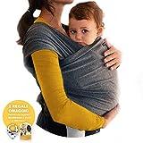 Fascia Porta Bambino BabyChoice Elastica per Bebè,Marsupio Fascia Neonato Porta Bambino. Cotone di Qualità Morbido e Confortevole. Con Bavaglini Neonato Regalo e Box in Omaggio.