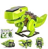 OFUN Giocattoli Dinosauro per Ragazzi, Regali Dinosauro per Bambini 8 ai 12 Anni Dinosauro Giocattolo Robot 4-in-1, Giocattoli Educativi Robo Solare Alimentato