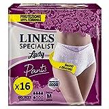 LINES SPECIALIST PANTS DISCREET per Incontinenza, Taglia M, Confezione da 16 Pezzi