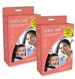 Baby Bell DUO PLUS Set 2 dispositivi anti abbandono Baby Bell PLUS, per 2 auto o accoppiati in una. Universale 100% auto e seggiolini. Funziona anche senza smartphone
