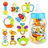 NUOLUX Giocattoli Sonagli Shake Rattle per Neonati Bambini 9 pezzi (colore casuale)