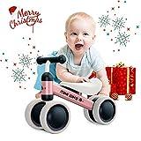 YGJT Biciclette Senza Pedali per Bambini 1 Anno (10-18 Mesi) Tricicli Neonati Corridori Giocattoli Regali per Bambini Bicicletta Senza Pedali Bambino Regalo di Natale(Rosa)