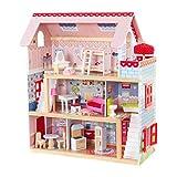 KidKraft Casa delle bambole Chelsea Cottage Legno, Multicolore, 65054