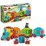 LEGO DUPLO IlTrenodeiNumeri, Set di Costruzioni Premiato con Grandi Mattoncini Numerati,Giocattoli Educativi per Bambini di Età Prescolare 1,5 Anni, 10847