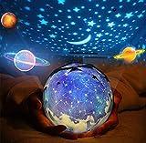 Rotante Stella Proiettore di luce, Bambino Luce notturna, 5 Stili Decorativo Luce d'atmosfera per Bambino Bambino Camera da letto, Salotto Party (USB alimentato/Batterie azionate)