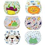 HaimoBurg Confezione da 6 Impermeabili Cotone Mutandine di Apprendimento per Bambino (2-3 Anni, A)