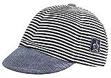 Kids Baby cappello classico da baseball a strisce per bambini, neonati, puro cotone, cappello regolabile con visiera di protezione solare, cappello estivo, cappello per bambini, 3–12mesi, Navy Blue, 3 Months