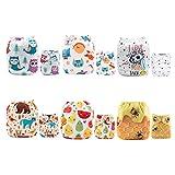Alva Baby - Pannolini lavabili e riutilizzabili in tessuto, 6 pz, 12 inserti 6DM21-IT