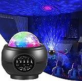 Smatcamp Proiettore Stelle Bambin, Luce Notturna Bambini Proiettore Luci Cielo Stellato Lampada Led con Altoparlante Bluetooth Musicale-Nero