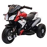 HOMCOM Moto Elettrica per Bambini 3-6 Anni Max. 25kg con Luci, Musica, Batteria 6V e Velocità 3km/h, Rossa