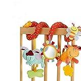 StillCool Bambino Passeggino Giocattoli, Passeggino giocattolo e attività Clip a spirale su carrozzina e passeggino con campana a specchio