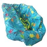 Badabulle Proteggi Seggiolino Carrello-Cuscino di Seduta Sedia da Pranzo Neonati Set - Pesce colorato, Come mostrato