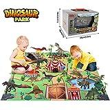 BeebeeRun Giocattoli Dinosauri Set 24 PCS,Regalo Giocattoli per Bambini 3 4 5 6 Anni,Dinosauro educativi Modello Giocattoli con Tappetino da Gioco