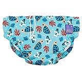 Bambino Mio SWPLTBAY Costumino Contenitivo Mutande Contenitive da Nuoto, 1 - 2 Anni, Multicolore (Baia Della Tartarughe)