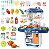 deAO Cucina Mio Piccolo Chef con Caratteristiche di Suoni, Luci e Acqua Cucina Giocattolo Include 34 Accessori